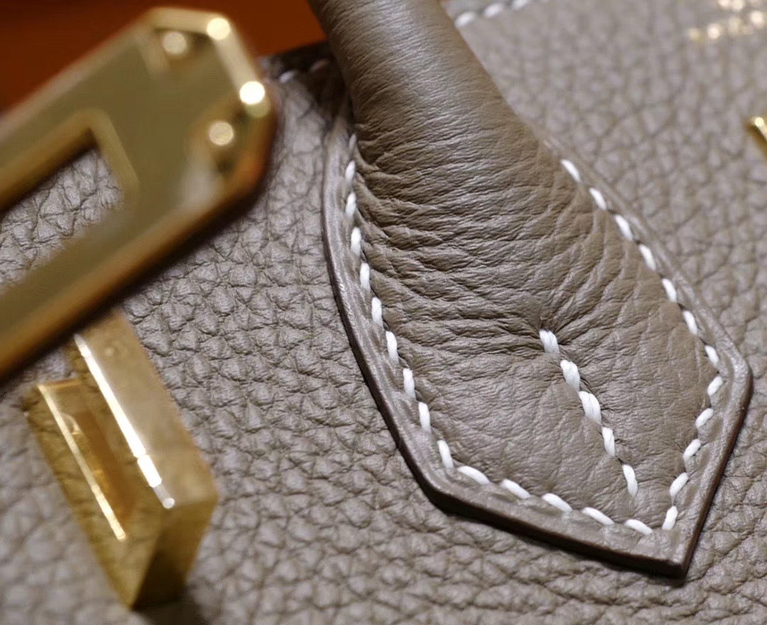 VIP一级品:Hermes Birkin 25cm 18大象灰色togo皮 金扣