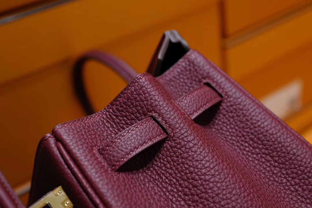 Hermes Birkin 25cm Togo 9D珊瑚红色 金扣