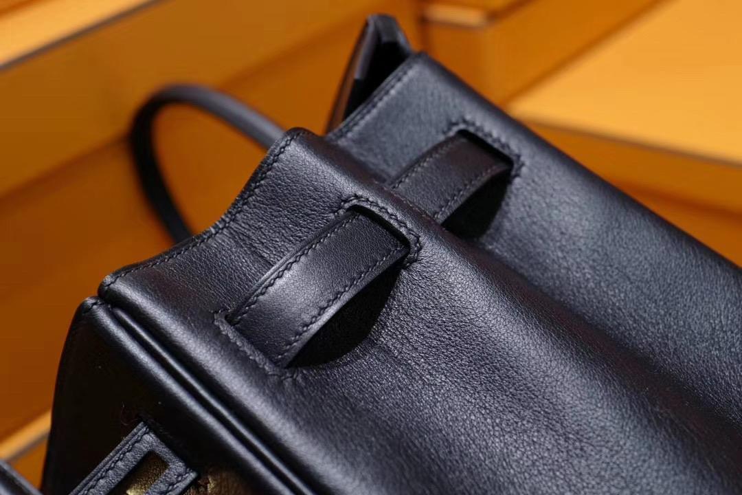 VIP级: 爱马仕 Hermes Birkin30CM 黑色 Swift皮 金扣